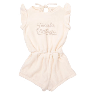 Off White Terry Romper