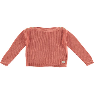 Salmon Brioche Stitch Sweater