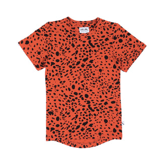 Pumpkin Red Printed Tshirt