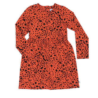Pumpkin Red Printed Dress