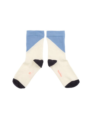 Geometric Blue Medium Socks