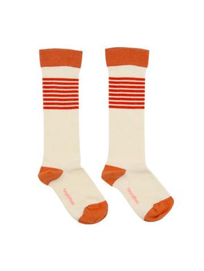 Orange Stripes High Socks