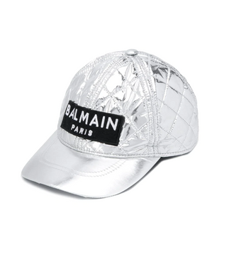 Silver Quilted Cap