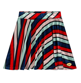 Diaz Long Stripes Velvet Skirt