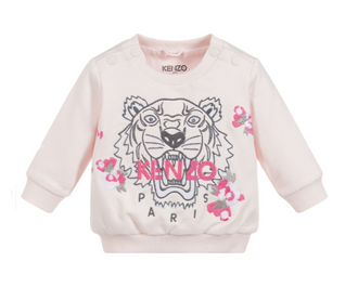 Tiger Light Pink Logo Sweattop