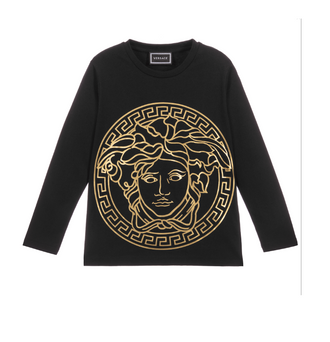 Black/Gold Large Medusa Tee