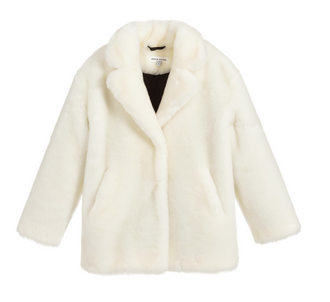 Diva White Eco Fur Coat