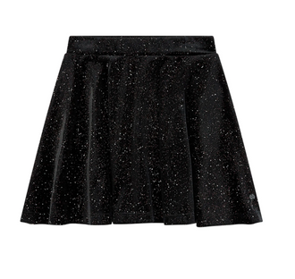 Delvine Long Glitter Velvet Skirt