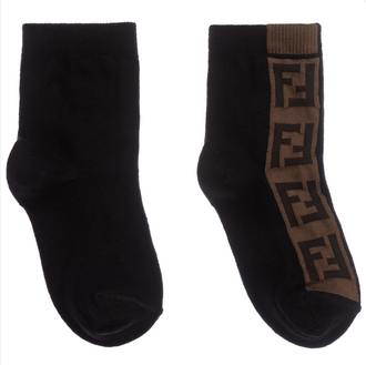 Black Logo Trim Socks