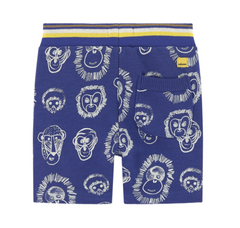 Blue Lion Print Shorts