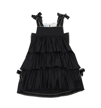 Black Tier Ruffled Dress