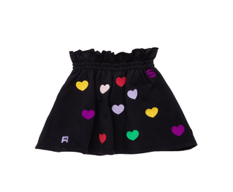 Ertille Embroidered Heart Skirt