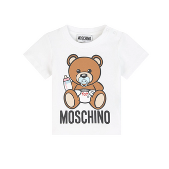 White Toy Baby Bear Tee
