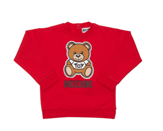 Red Patch Teddy Sweatshirt