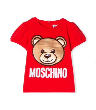 Red Sequin Teddy Tee