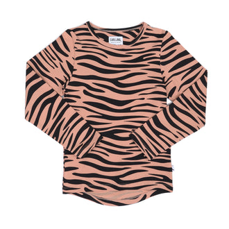 Sandstone Tiger Stripe Long Sleeve Tee