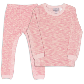 Pink Velour Space Dye Pjs
