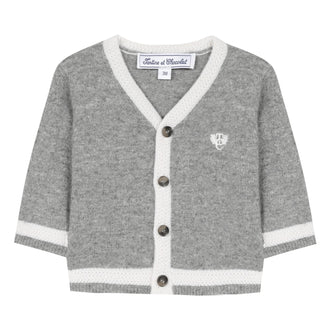 Ceremonie Grey Contrast Cardigan