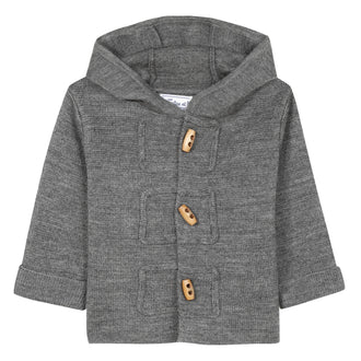 Baby Loup Y Es Grey Toggle Cardigan
