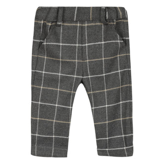 Baby Loup Y Es Grey Plaid Pants