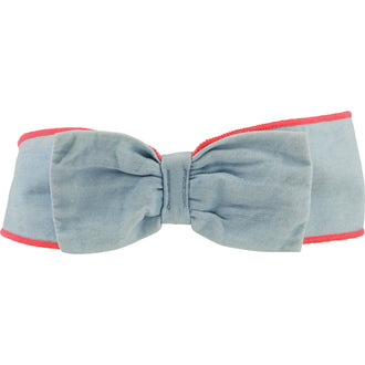 Chambray Bow Headband