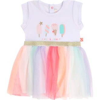 White Ice Cream Tulle Dress