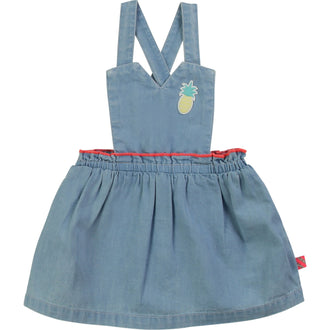 Denim Overall Jumper With Pineapple Patch