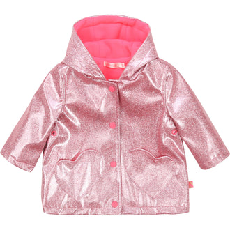 Pink Raincoat With Heart Pockets