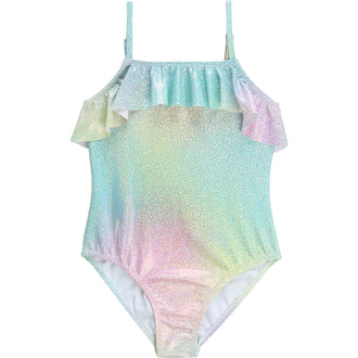 Mermaid Shimmer Swimsuit With Ruffle