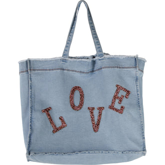 "Chambray ""Love"" Patch Tote"