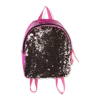 Fuchsia Backpack with Reversible Sequin