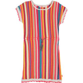 Multicolored Stripe Knit Dress