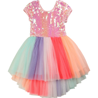 Pink Multi Tulle Dress