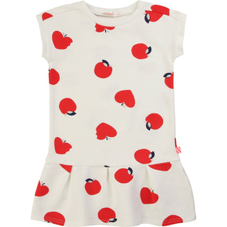 Ivory Allover Apples Dress