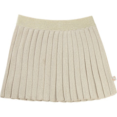 Gold Pleated Knit Skirt