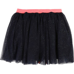 Navy Candy Pom Poms Tulle Skirt