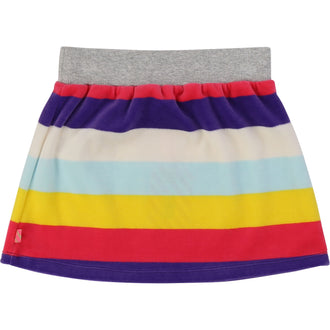 Multi Striped Velour Skirt