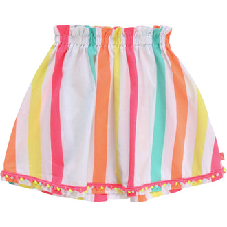 Multicolored Striped Skirt