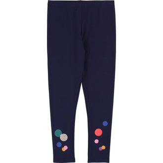 Navy Dots Leggings