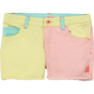 Two-Tone Twill Shorts