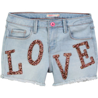 Denim Patched Shorts