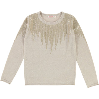 Gold Metallic Knit Sweater