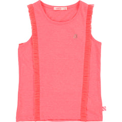 Neon Ruffle Trim Tank Top