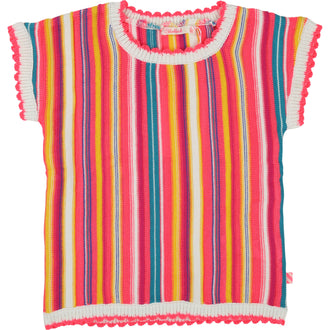 Multicolored Stripe Knit Top