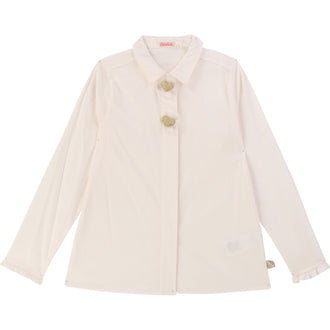 Cream Poplin Blouse