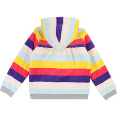 Multi Striped Velour Reversible Sweatshirt