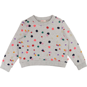 Grey Multi Dots Sweattop