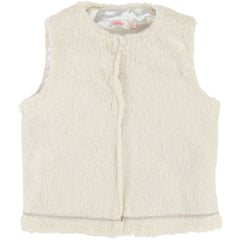 White Gold Faux Fur Vest