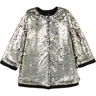 Gold Sequin Long Coat