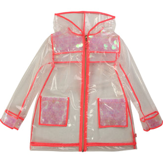 Transparent Sequin Raincoat